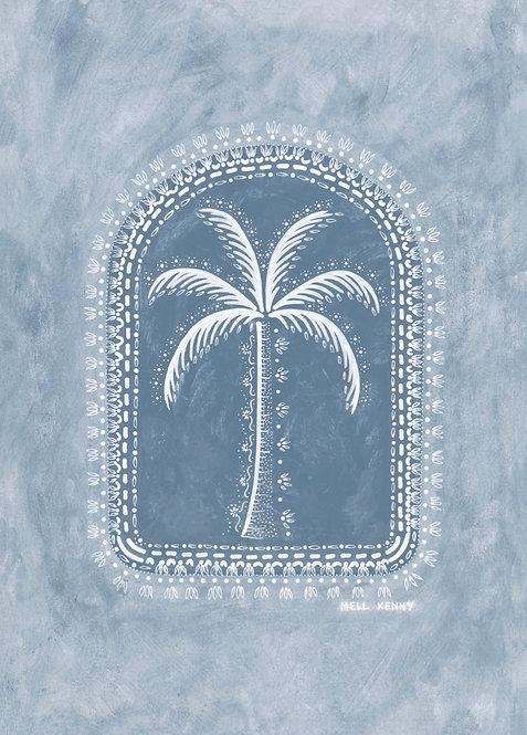 OCEAN PALM FINE ART PRINT