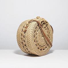 Classic Pattern Tan Basket Bag 2