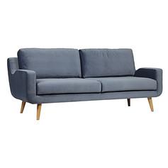 Tomas 3 Seater Sofa- Blue Velvet