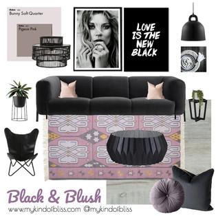 BLACK & BLUSH