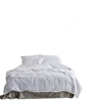 White Linen Duvet Set