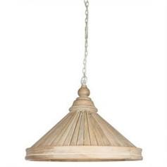 Hamptons Solid Mango Wood Pendant