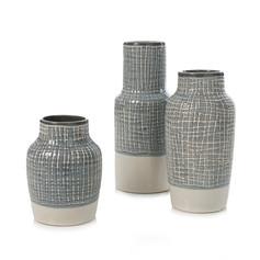 Home Republic Ollen Vase- Grey