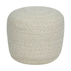 Cotton Braided Ottoman- Beige