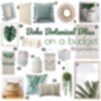 Botanical Boho Bliss. Boho decor for your home under $50.00 each.