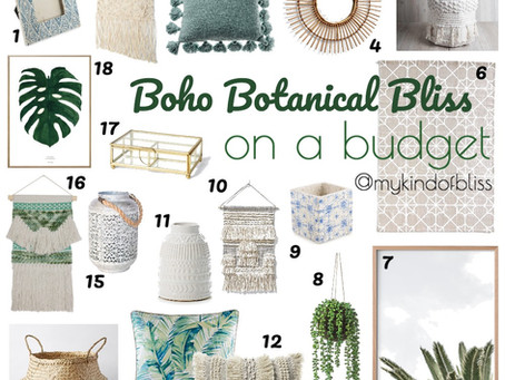 Boho Botanical Bliss- On A Budget