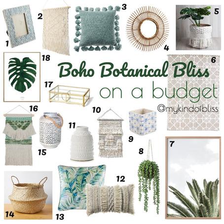 Boho Botanical Bliss- On A Budget