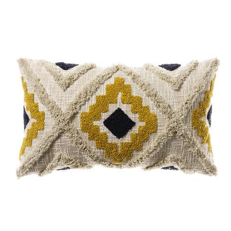 Home Republic Mexica Cushion- Mustard & Navy