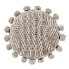 Home Republic Round Pom Pom Cushion- Natural