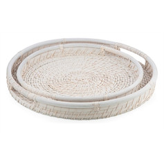 Handwoven Rattan/Bamboo Serving Trays