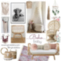 A beautifulabode for your bohemian princess.  Natural and eclectic decor makes this the perfect nursery for your boho baby.