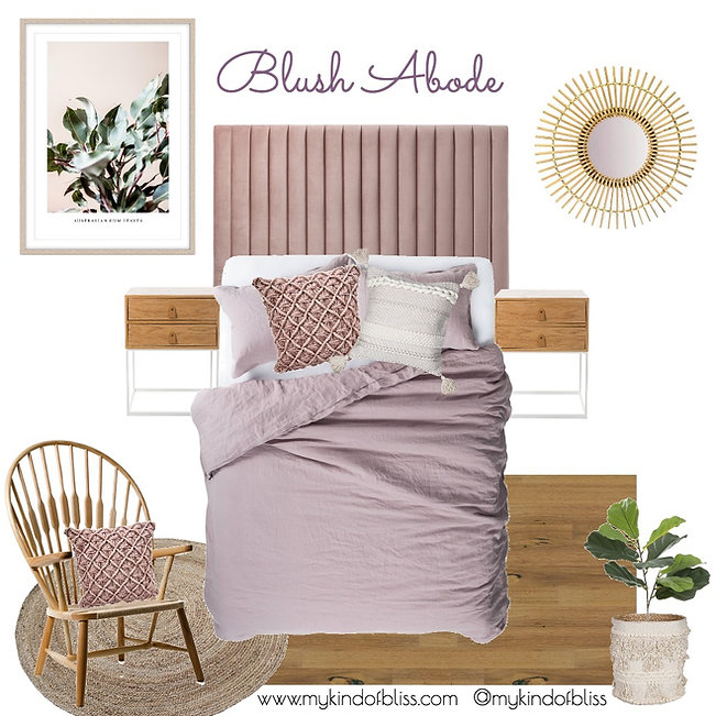 Soft pretty pinks and lush textures make this blush abode the perfect bedroom retreat with a feminine touch. bedroom design, my kind of bliss,  bedroom decor, bedroom Inspo, girls room, boho decor, property styling, perth interior designer, nordic bedroom, scandi,