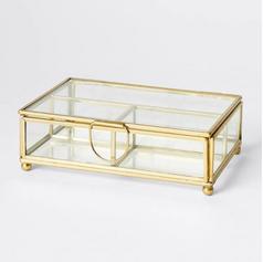 Brass & Glass Jewellery Box