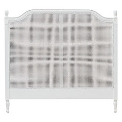 Marseille Rattan Bed Head- White
