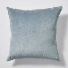 Beach Luxe Velvet Cushion- Grey
