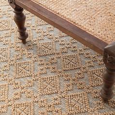 Alpine Diamond Slate Hand Knotted Wool Rug