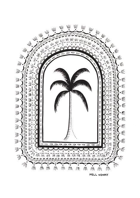 ISLAND PALM FINE ART PRINT