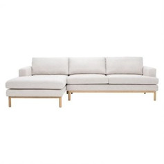 Venga 3 Seater Left Chaise Lounge- Frost
