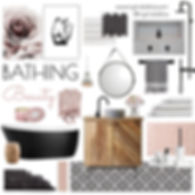 #interiorstylist #resortstyle #hotelbathroom #blackbathroom #pinkbathroom #blacktiles #pinktiles #whitetiles #girlsroom #girlsbathroomblush #mykindofbliss #luxebathroom #blushdecor #bathroominspo #femininebathroom #perthinteriordesigner #bathroomrenovation #bathroomdecor #bathroomdesign