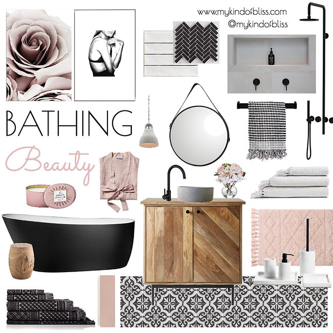 #interiorstylist #resortstyle #hotelbathroom #blackbathroom #pinkbathroom #blacktiles #pinktiles #whitetiles #girlsroom #girlsbathroomblush #mykindofbliss #luxebathroom #blushdecor #bathroominspo #femininebathroom #perthinteriordesigner #bathroomrenovation #bathroomdecor #bathroomdesign