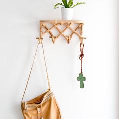 Hooked Up Wall Shelf with 6 Hooks