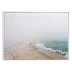 Morning Wave Framed Canvas Print