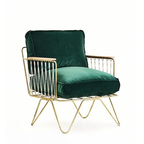 Croisette Armchair- Velvet
