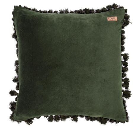 Kombu Green Tassel cushion Cover