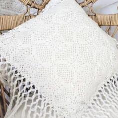 Crochet Fringed Cushion Cover