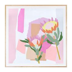 Summer Proteas Art Print