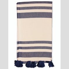 Malta Turkish Towel- Navy