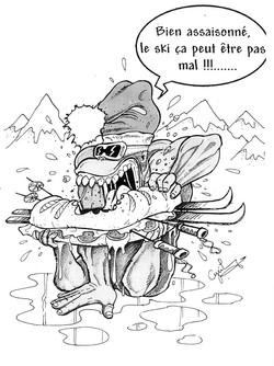 illustration singe skieur 2