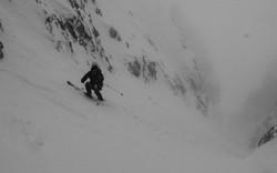 Teton Couloir Skiing