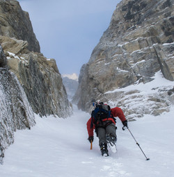 Couloir Skiing in the Alaska Range