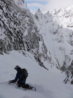 Splitboarding the Apocalypse Couloir