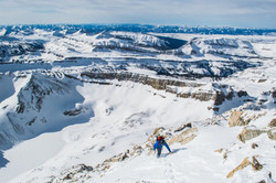 Climbing high on the South Teton