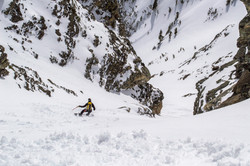 Splitboarding in the Tetons