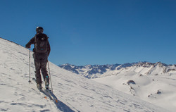 Ski touring at Ski Arpa