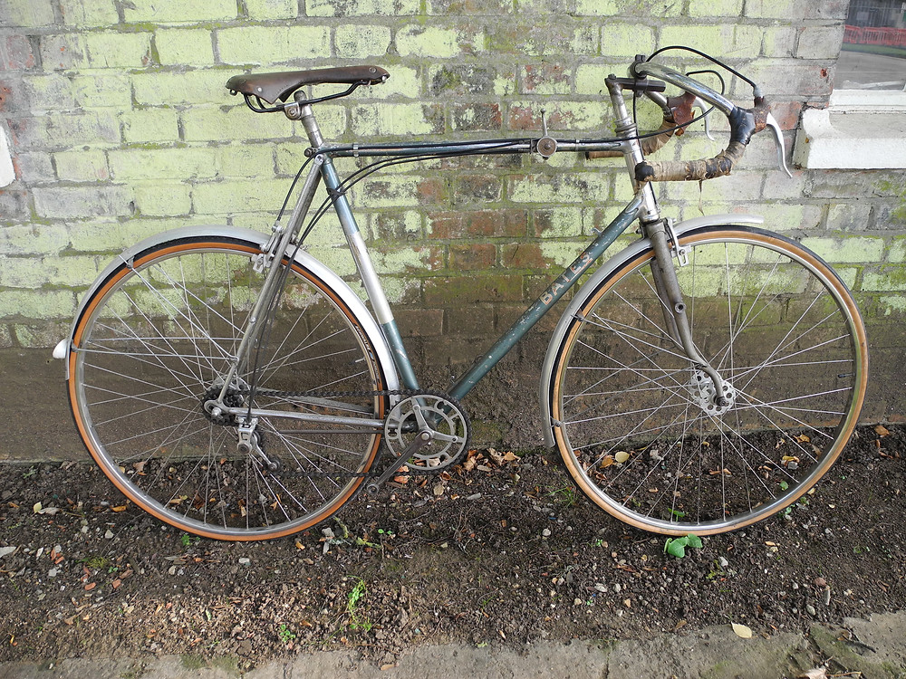 Lovely Bates with superb bars/stem, and three speed Cyclo gearing.
