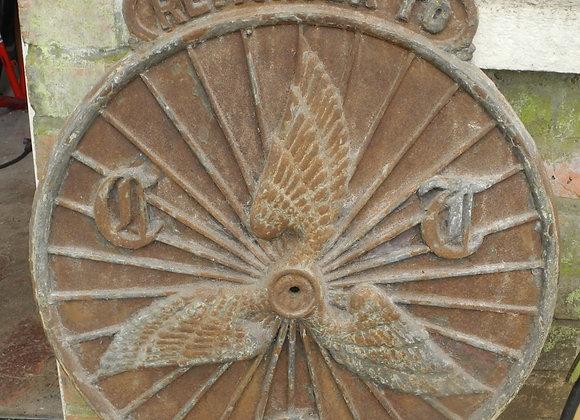 CTC cast iron sign, original