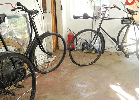 His 'n' hers Sunbeam tricycles
