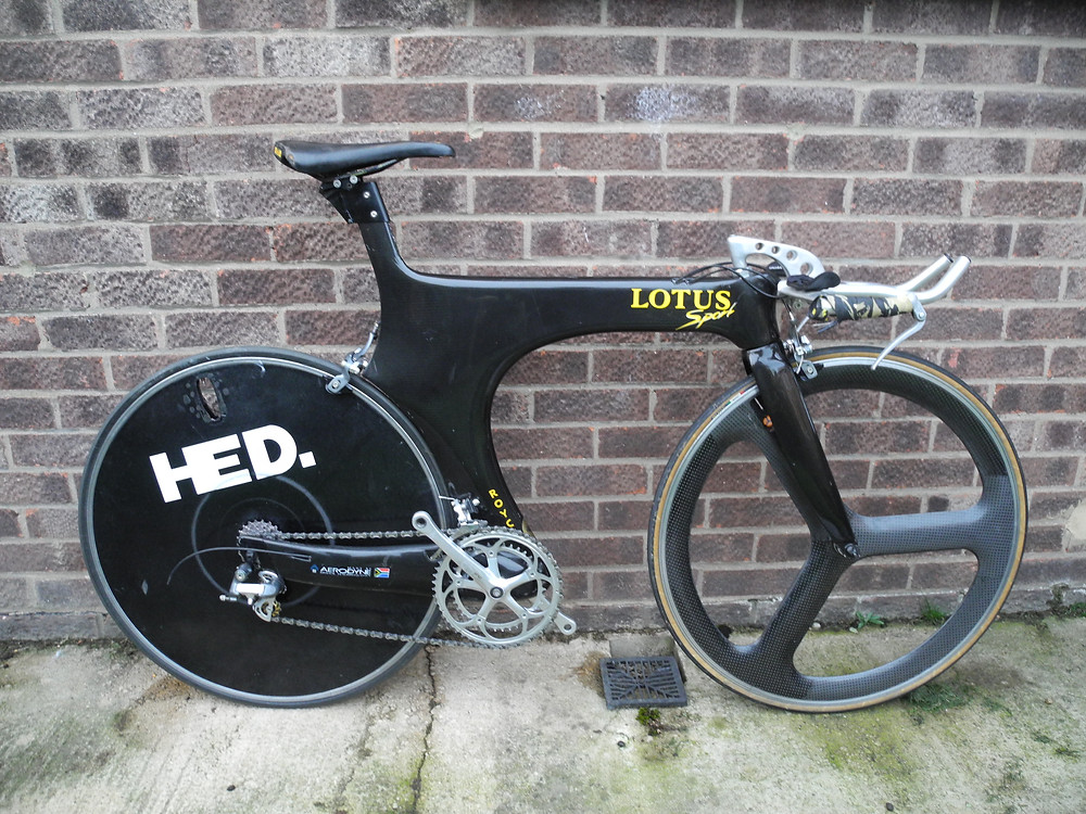 Made famous by Chris Boardman in the 1992 Barcelona Olympics, this is the road-going Lotus 110. One of fewer than 330 ever made, this is a machine that all cycle collectors dream of.