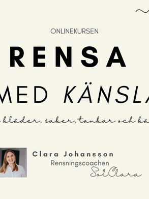 Jag lanserar min första onlinekurs: RENSA MED KÄNSLA