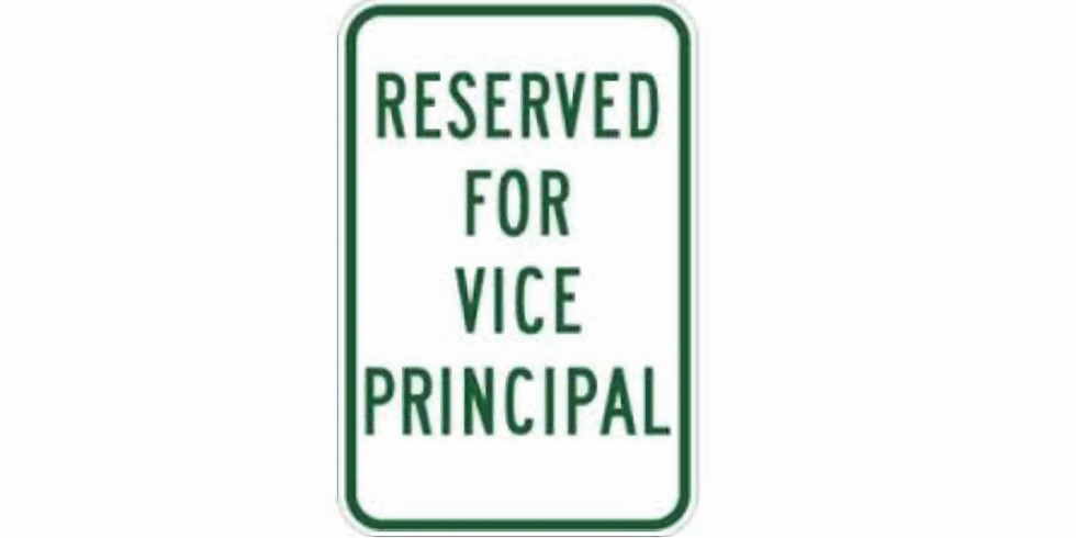 St. Anselm Vice Principal for the day!