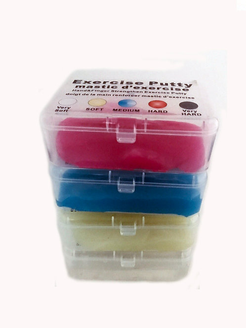 DaffoGreen Hand & Finger Exercise Medical Transparent Silicone Therapy Putty