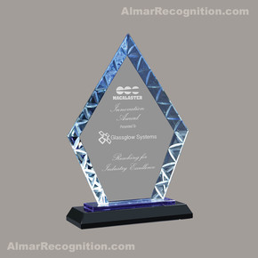 G156 Blue Diamond Delight Glass