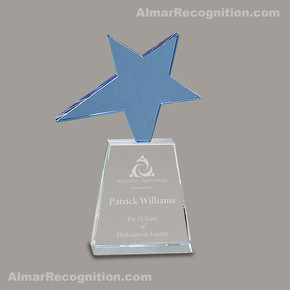 OC295 Blue Shooting Star Crystal