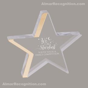 ACR77 Star Gazing Style Gold Acrylic