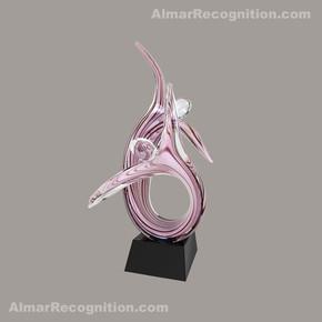 A134 Gracefully Dancing Duo Art Glass