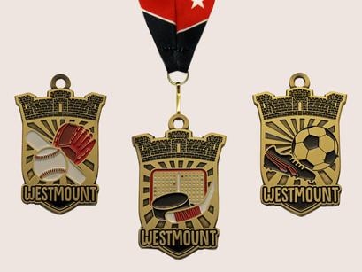 Custom Medals – Westmount: Hockey, Soccer & Baseball